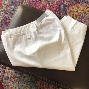 Talbots white crop pant size 16 W petite
